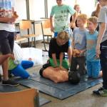 Workshop Erste Hilfe am Schulfest 2015