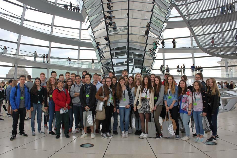 Gruppenfoto im Bundestag